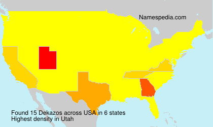 Surname Dekazos in USA