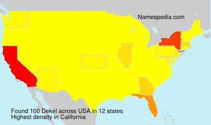 Familiennamen Dekel - USA