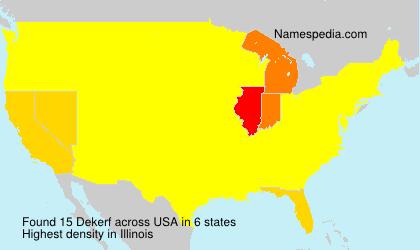 Surname Dekerf in USA