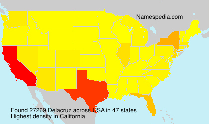 Surname Delacruz in USA