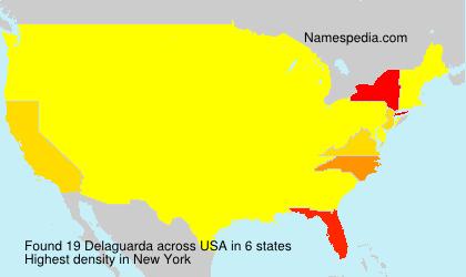 Surname Delaguarda in USA