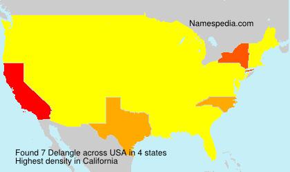 Surname Delangle in USA