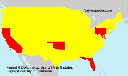 Surname Delanne in USA