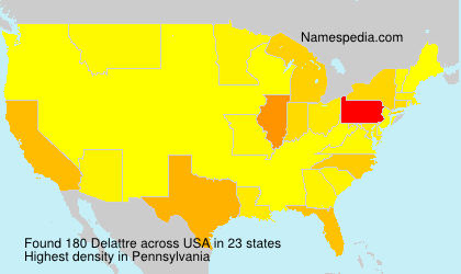 Surname Delattre in USA