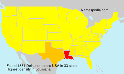 Surname Delaune in USA