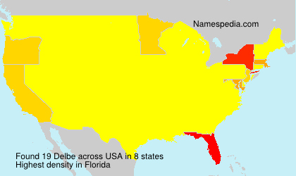 Surname Delbe in USA