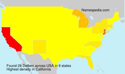 Surname Delben in USA