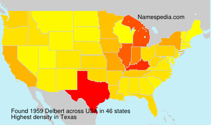 Surname Delbert in USA