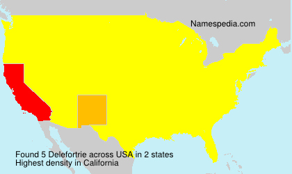 Surname Delefortrie in USA