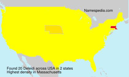 Familiennamen Deleidi - USA