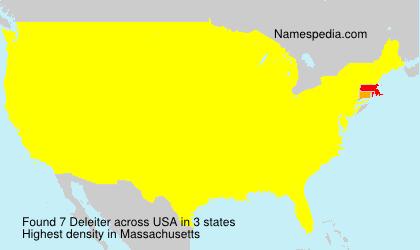 Surname Deleiter in USA