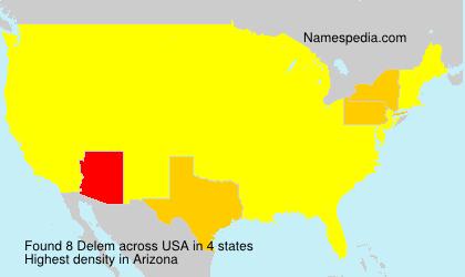 Surname Delem in USA