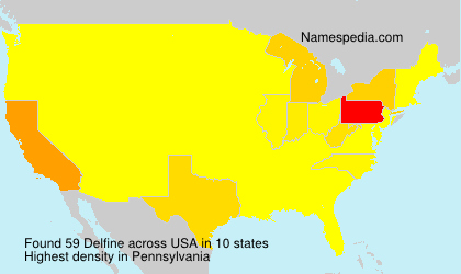 Surname Delfine in USA