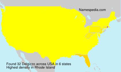 Surname Delgizzo in USA