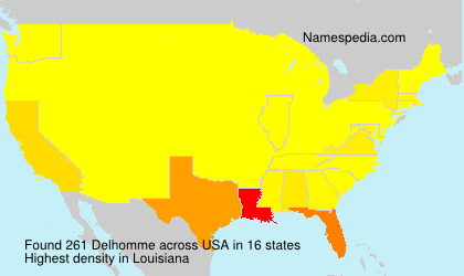 Surname Delhomme in USA