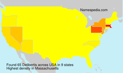 Surname Delibertis in USA