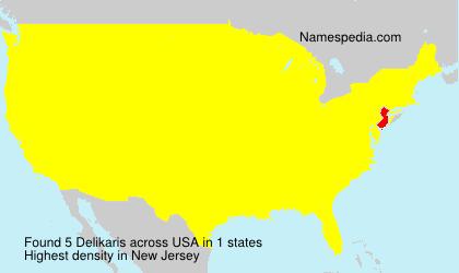 Familiennamen Delikaris - USA