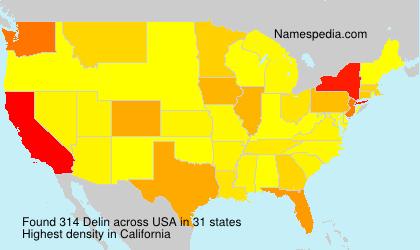 Surname Delin in USA