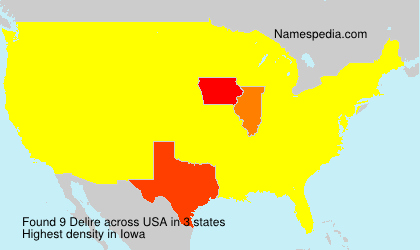 Surname Delire in USA