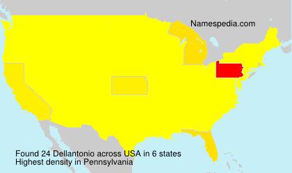 Surname Dellantonio in USA