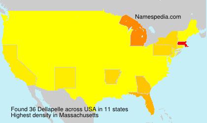 Surname Dellapelle in USA
