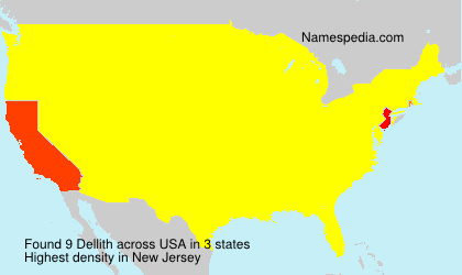 Familiennamen Dellith - USA