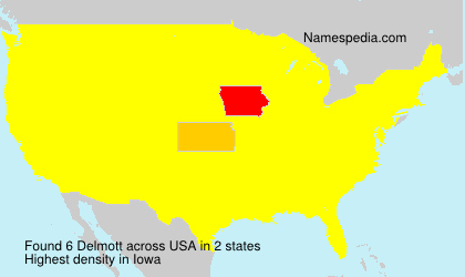 Surname Delmott in USA
