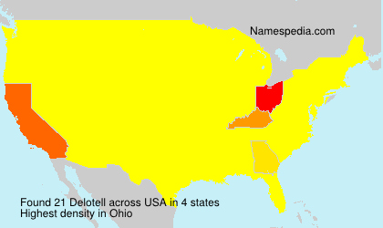 Surname Delotell in USA