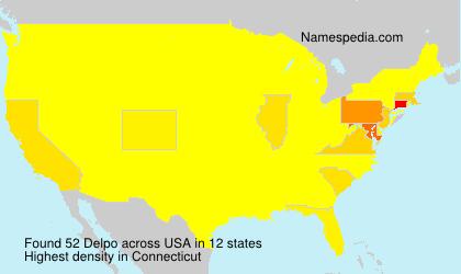 Surname Delpo in USA