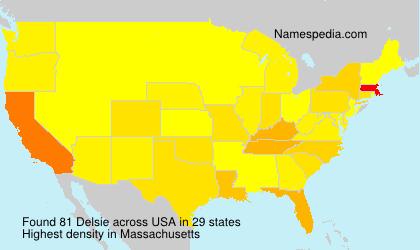 Surname Delsie in USA