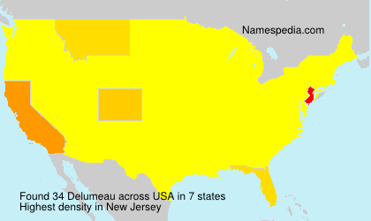 Surname Delumeau in USA