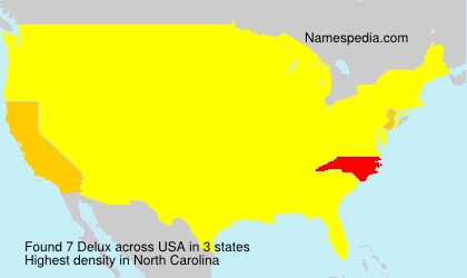 Surname Delux in USA