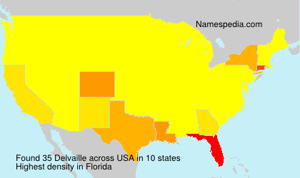 Surname Delvaille in USA
