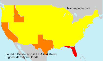 Surname Delyse in USA