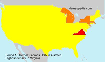 Surname Demaku in USA