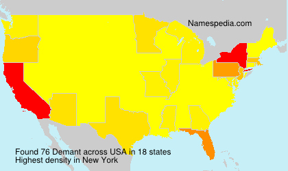 Surname Demant in USA