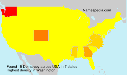 Surname Demarcey in USA