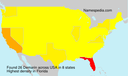 Surname Demarin in USA