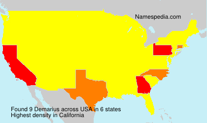 Surname Demarius in USA