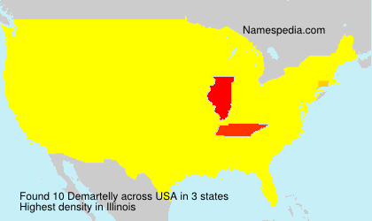 Familiennamen Demartelly - USA