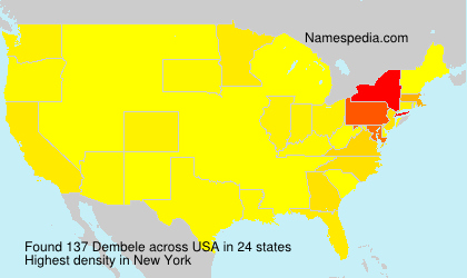 Surname Dembele in USA