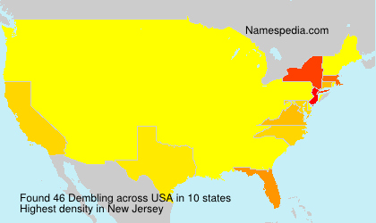 Surname Dembling in USA