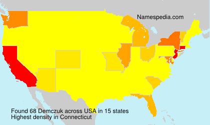 Familiennamen Demczuk - USA