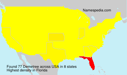 Surname Demetree in USA