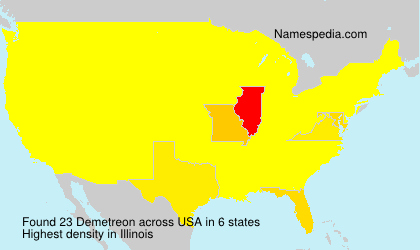 Surname Demetreon in USA