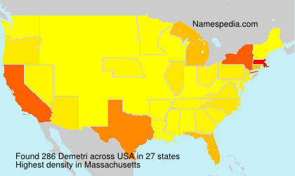 Surname Demetri in USA