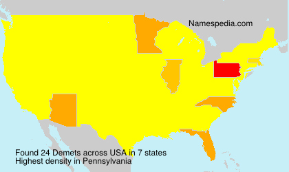 Surname Demets in USA