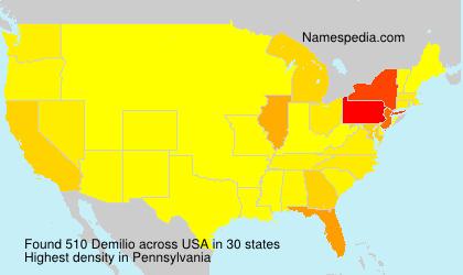 Surname Demilio in USA