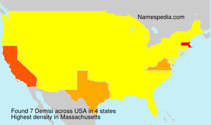 Surname Demisi in USA