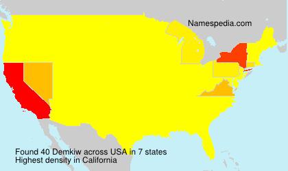 Familiennamen Demkiw - USA